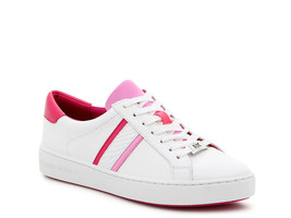 Michael Michael Kors Irving Stripe Lace-Up Neon Sneakers Size 8 - $79.19