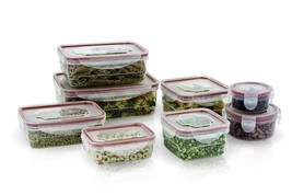 16 Pcs Plastic Food Storage Containers Set With Air Tight Locking Lids -... - $16.44