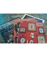 Lot of 5 Santa-Themed Counted Cross Stitch Pattern Booklets MEL-038 - $4.11
