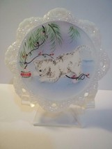 Fenton Glass Grey Tabby Cat Kitten Christmas Ornament NFGS Ltd Ed of 15 ... - $169.75