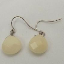 VINTAGE SILVER TONE WHITE PIERCED DROP/DANGLE Earrings FASHION APPROX. 1... - $10.03