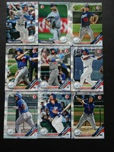 2019 Bowman Los Angeles Dodgers Paper Base Team Set 9 Baseball Cards - $5.99