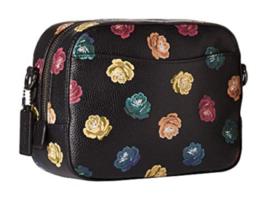 COACH 31647 Rainbow Rose Leather Sequins Camera Bag NWT - $196.89 CAD