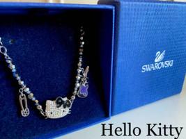 SWAROVSKI X Hello Kitty Authentic 1145278 Rock Bracelet Used from Japan - $212.36