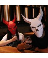 3D Animal Head Mask cardboard Halloween Party Performance Props - $13.99
