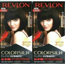 2 Revlon 40 30N Dark Brown Vivid Ammonia Free Hair Color Colorsilk Butte... - $21.99