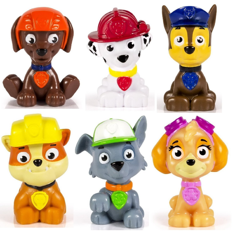 Primary image for Paw Patrol Mini Figures Toy Set of 6 Rocky/ Zuma/ Skye/  Rubble/ Marshall/ Chase