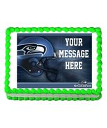 Seattle Seahawks Football Edible Cake Image Cake Topper - $8.98