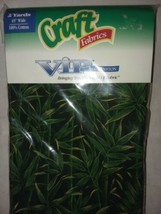 Ornamental Grass Craft Fabrics VIP by Cranston New 2 Yards 45 in wide Co... - $19.99