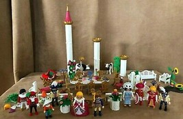 Playmobil Royal Banquet 3021 lot people garden 3019 Princess Fairy Tale ... - $114.50
