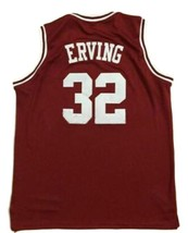 Julius Erving #32 College Basketball Jersey Sewn Maroon Any Size image 2