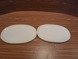 2 Corning Ware F-23-PC  Storage Covers  for French White  F-23-B Oval Ca... - $7.42