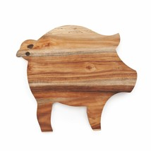 Board Cheese, Acacia Wood Unique Pig Rustic Serving Elegant Cheese Boards - ₨1,637.79 INR