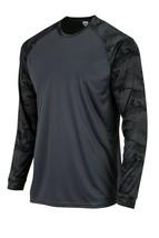Sun Protection Long Sleeve Dri Fit Graphite Gray sun shirt Camo Sleeve SPF 50+ image 2