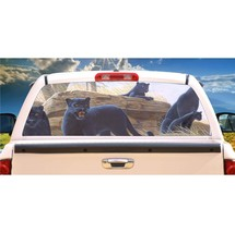 Black Panther No Trespassing Rear Window Mural, Decal, or Tint for rear window i - $77.99