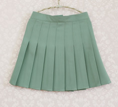 DARK GREEN Pleated Skirt Women Girls Campus Style Pleated Mini Skirt - Plus Size image 14