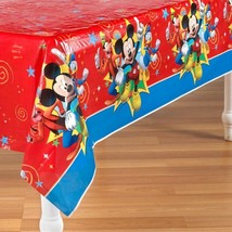 Mickey Mouse Fun and Friends Plastic Table Cover 1 Per Package Birthday - $6.44