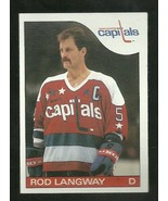 1985-86 TOPPS SET BREAK #8 ROD LANGWAY CAPITALS NM-MT FREE SHIPPING  - $2.99