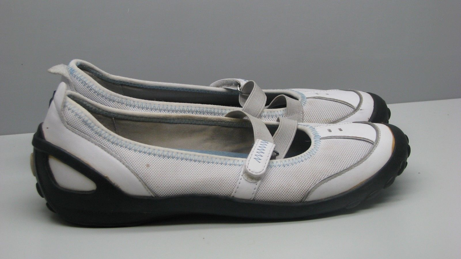 Clarks Privo SHOES White Leather & Fabric Woman's 8 M FLATS