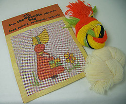 Vintage HAND PAINTED NEEDLEPOINT KIT Sunbonnet Sue with Handbag by Boodl... - $14.50