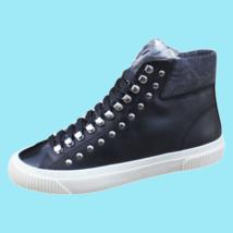 DIESEL S-Mustave MC Womens Zip-Round High Top Fashion Sneaker Black Size 7 New - $119.69