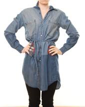 Rails Brianna denim dress dark vintage color block New Without Tags BCF54 - $111.86