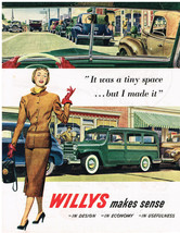 Willys Car & New York Central Train Colored Magazine Advertisments Vintage - $6.92