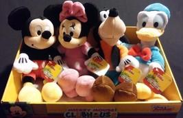 4pc Set Disney Mickey Mouse Minnie Goofy Donald Soft Bean Bag Plush Toys... - $50.00