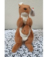 Ty Beanie Baby Pouch The Kangaroo with Joey 4th Generation PVC Filled NEW - $8.90