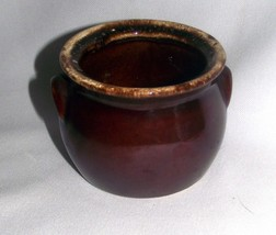 Hull Brown Drip Sugar Bowl Handles Oven Proof Vintage Replacement Mid Ce... - $19.75