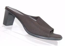 Aerosoles 'Wheeled' brown stretch fabric open toe slip-on sandal block h... - $9.49