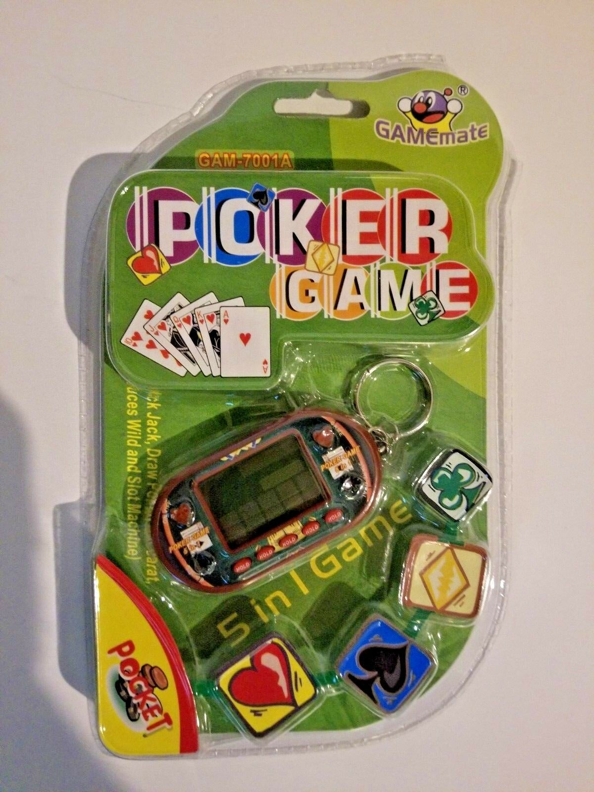 5 in 1 key chain poker game image 1