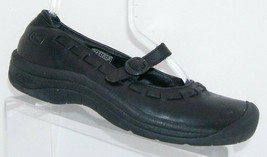 Keen 'Winslow' black full grain leather mary jane casual comfort shoes 9 39.5 - $41.72