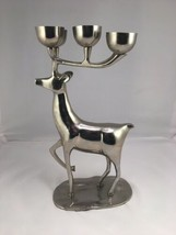 "Silver Deer/Buck Candle/Votive 13.5"" Tall Pottery Barn Made In India - $49.00"