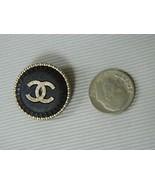 Chanel Button Matte Black Gold Raised CC Logo Etched Trim Large New - $29.70