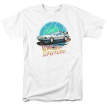 Back to the Future Retro 80s T Shirt Classic McFly Doc Brown DeLorean UNI1127 image 1