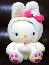 Hokkaido limited Kitty snow bunny costume stuffed doll large limited JAPAN - $63.57
