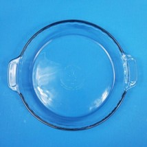 Anchor Hocking Clear Glass 9.5 Inch Pie Pan Fluted Edge - $9.69