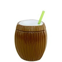 Cool Gear 16oz Coconut Double Wall Tumbler Cup BPA FREE  Tropical  Hawai... - ₨1,040.47 INR