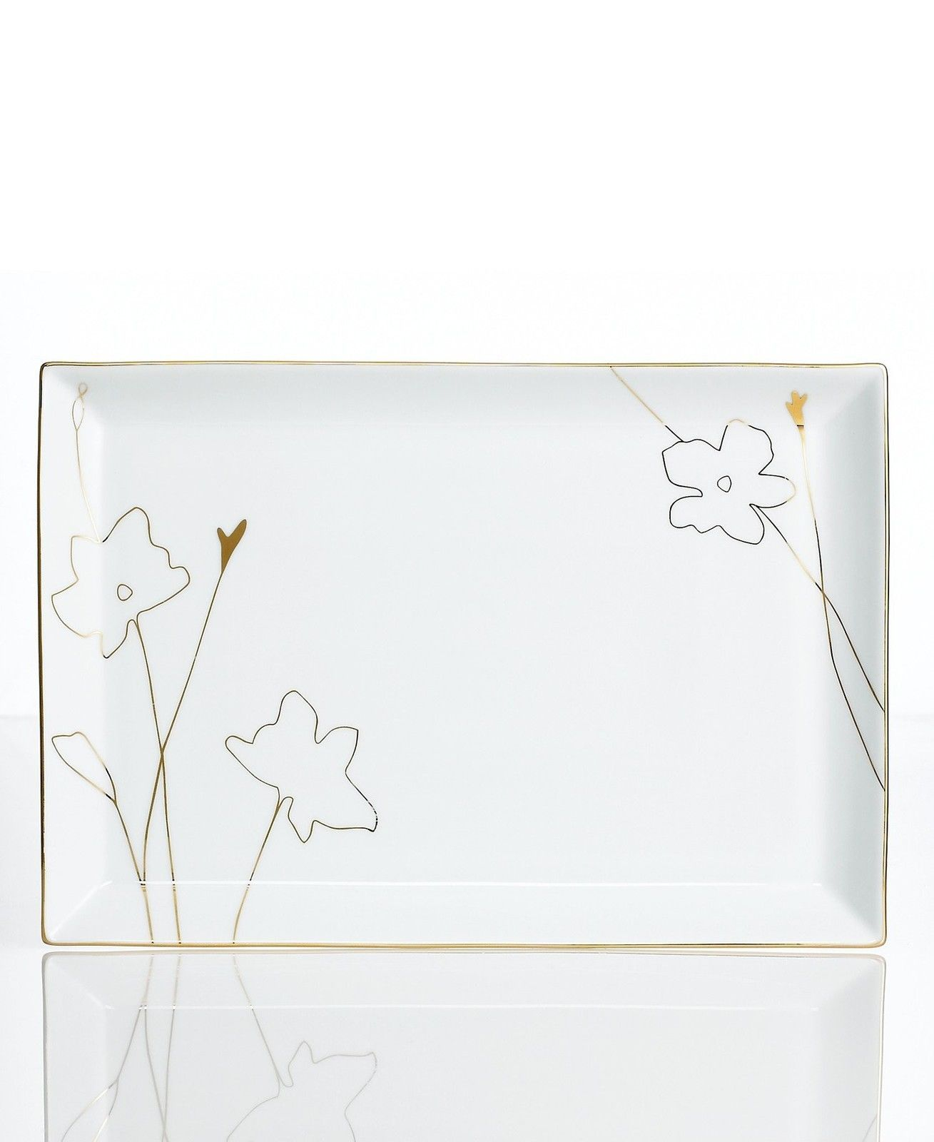 Charter Club Grand Buffet Gold Silhouette Large Platter
