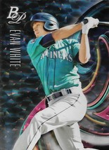 Evan White Bowman Platinum 2018 #Top-93 Ice Rookie Card Seattle Mariners - $0.75