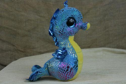 a64c24adf05 TY Beanie Boo s NEPTUNE Blue Rainbow Seahorse Sparkle Eyes Plush WITH TAGS  2014 -  8.36