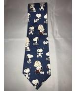 Peanuts Snoopy Charlie Brown Blue Mans Best Friend 100% Silk Classic Nec... - $27.60