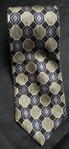 Wembley Geometric Print Black Blue Gold Tie - $10.39