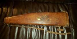 Rare 1907 Farwell Ozmun Kirk Co. Setter Brand Leather Shotgun/Rifle Scab... - $89.72