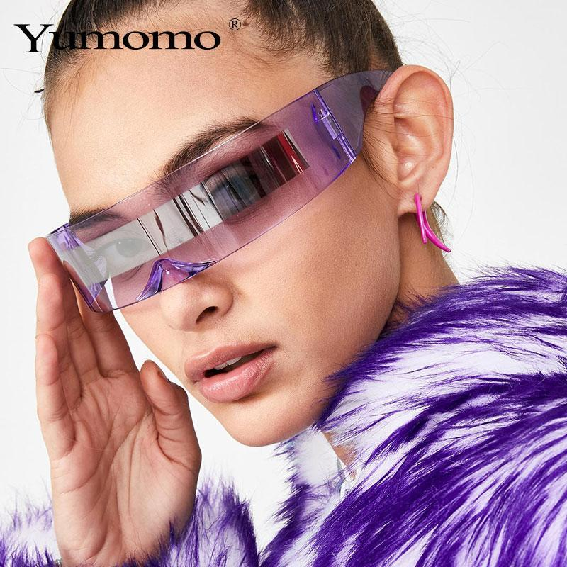 Stic wrap around monob costume sunglasses luxury brand designer mask novelty glasses purple blue