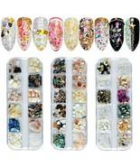 36 Grids Nail Art Shell Nail Abalone Slices, Tingbeauty Natural Irregula... - $17.81