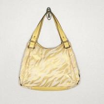 Anne Klein Yellow Zebra Print Tote Shoulder Handbag - Please Read Condit... - $12.85
