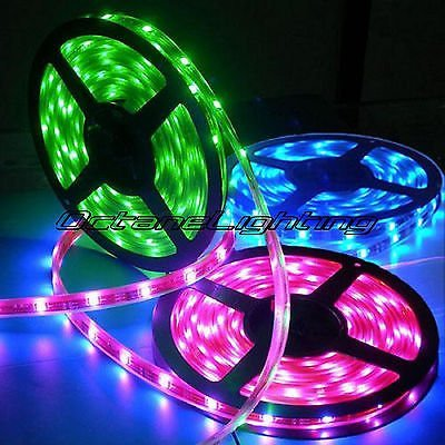 OCTANE LIGHTING 5M 5050 Smd 150 Led Waterproof Light Bulb Strip Ir 24Key Control - $9.85