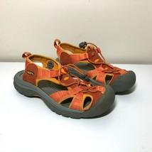 Keen Womens 7 Sandals Orange Waterproof Hiking Shoes - $34.64